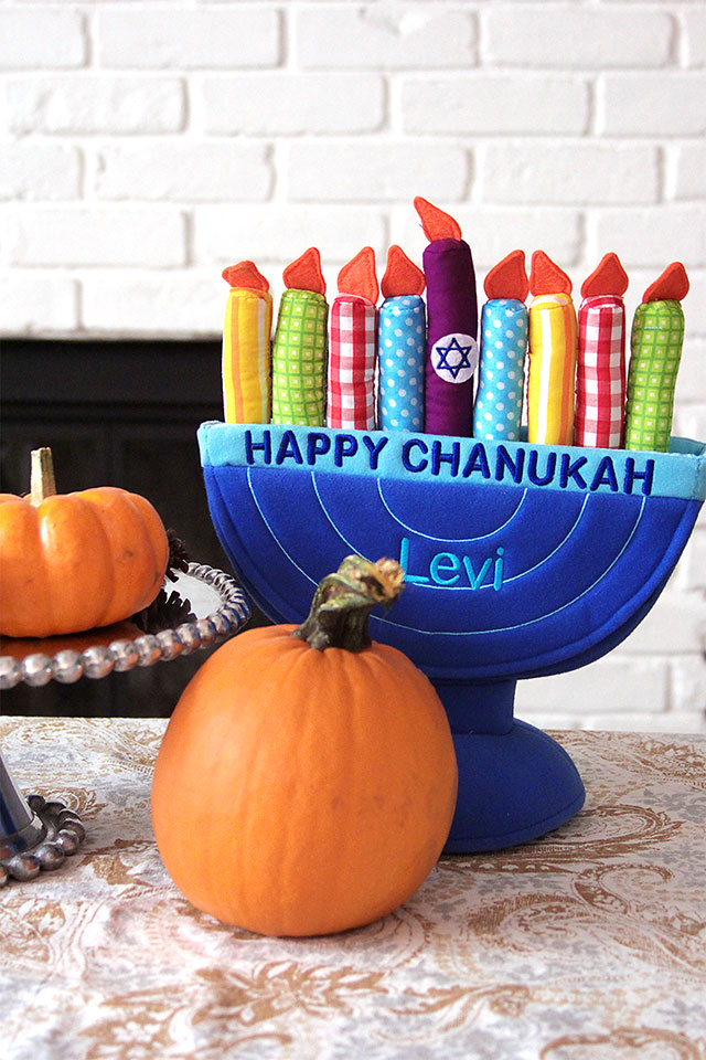 toy plush chanukah menorah