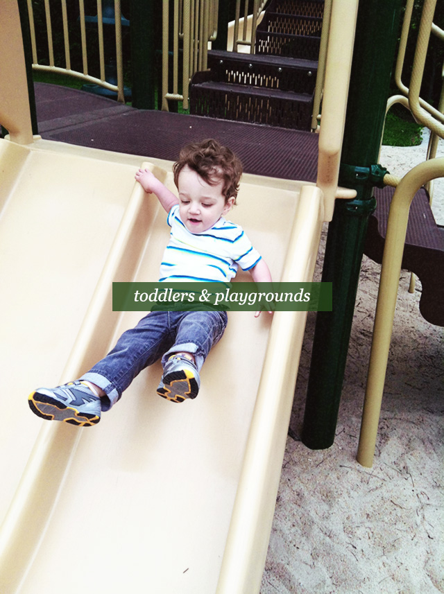 toddlers and playgrounds