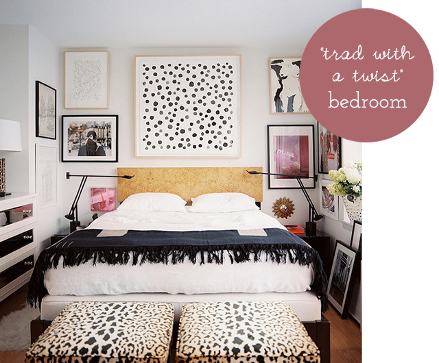trad with a twist bedroom