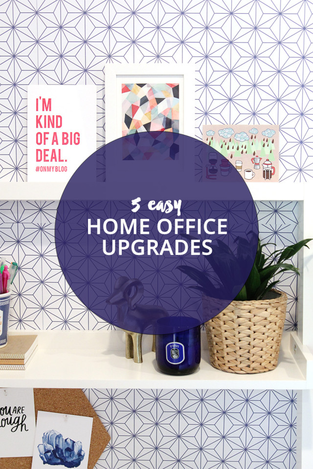 5 ways to upgrade your home office on A Girl Named PJ