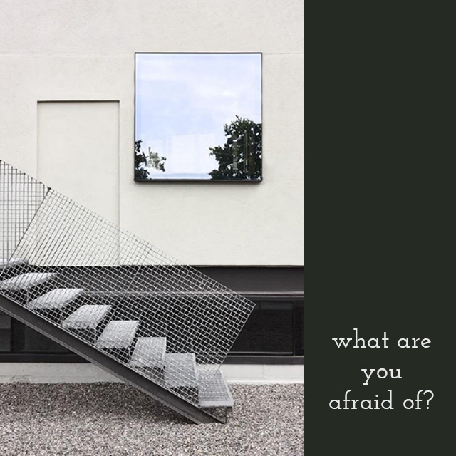 What are you afraid of? #stairs #stairway bunnyanddolly.com
