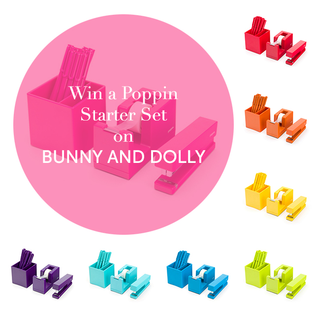 win a poppin starter set on www.bunnyanddolly.com
