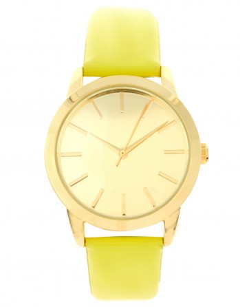 yellow and gold watch
